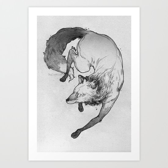 "Shy's ""Fox"" Art Print"