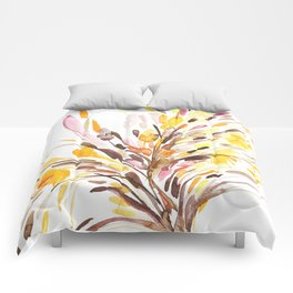 Fall Floral Watercolor 2 Comforters