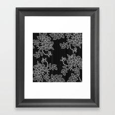 LIVING IN BLACK AND WHITE Framed Art Print