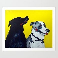 STINKY AND ZEKE by Jean-Paul Langlois Art Print