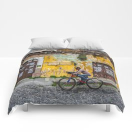 Antigua by bicycle Comforters