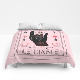 Le Diable or The Devil Tarot Comforters