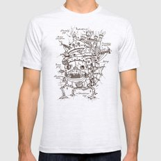 Howl's Moving Castle Plan LARGE Mens Fitted Tee Ash Grey