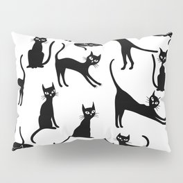 Black cats, seamless patten Pillow Sham