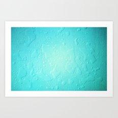 blue water droplets Art Print