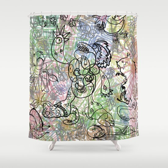 Anymanimals+Whatlifethrowsatyou    Nonrandom-art1 Shower Curtain