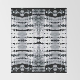 BW Satin Shibori Throw Blanket