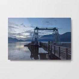 Dusk Dock Metal Print