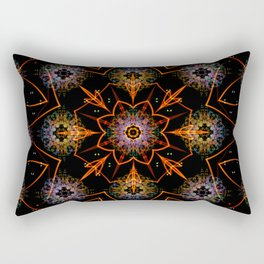 Floral Fractals Rectangular Pillow