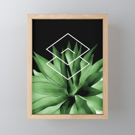 Agave geometrics III Framed Mini Art Print