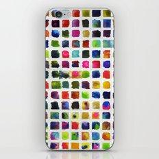 Watercolor Squares iPhone & iPod Skin