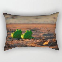 frog admiring the sunset Rectangular Pillow