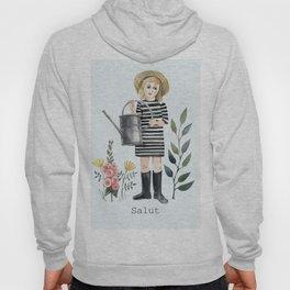 salut! little girl with flowers Hoody