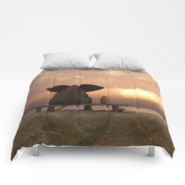 Elephant and Dog Friends Comforters