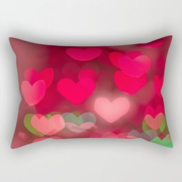 red love background of the hearts on Valentine's day Rectangular Pillow