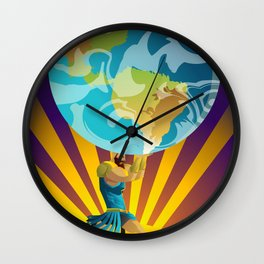 atlas holding the world Wall Clock