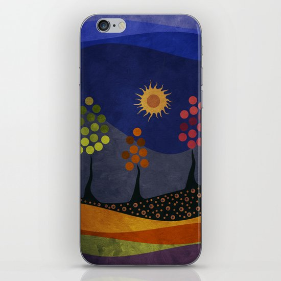 Paisaje y color iPhone & iPod Skin