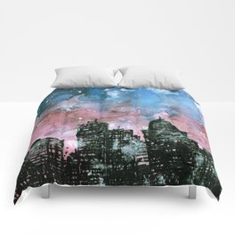 buildings architecture galaxy Comforters