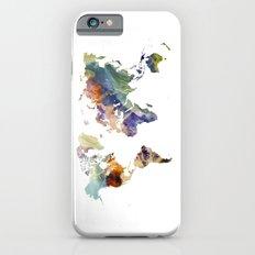 World map painting iPhone 6 Slim Case
