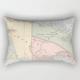 Vintage Map of New Guinea (1901) Rectangular Pillow