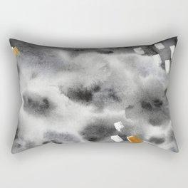 Golden moments || watercolor Rectangular Pillow