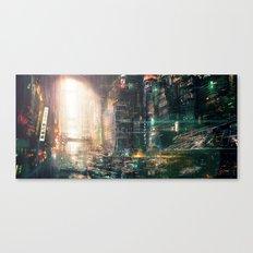 Sci fi china town Canvas Print