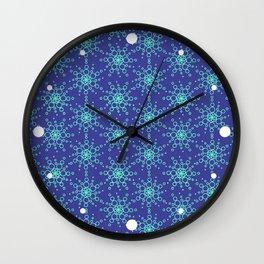 Retro Blue Wall Clock