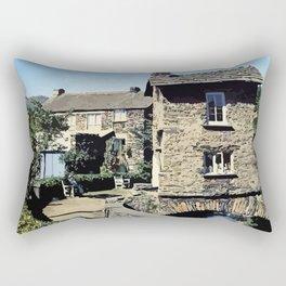 Old Bridge House Ambleside Cumbria England Rectangular Pillow