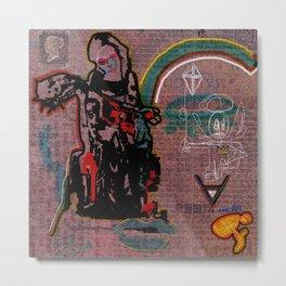 ART HISTORY SERIES: PIETA & ANNUNCIATION DIPTYCH Metal Print
