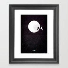 Moon alternative movie poster Framed Art Print