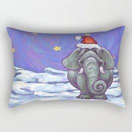 Elephant Christmas Rectangular Pillow