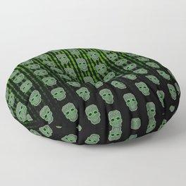 Skull Hacker (pattern version) Floor Pillow