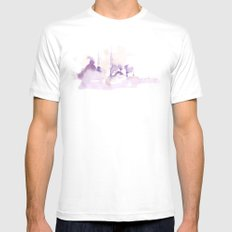 Watercolor landscape illustration_Istanbul White MEDIUM Mens Fitted Tee