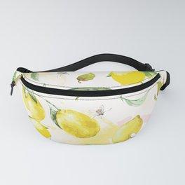 Watercolor lemons Fanny Pack