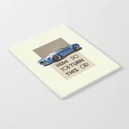 The Classic Game Cheat Code: How do you turn this on Funny Blue Cobra Car Notebook