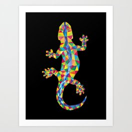 Vivid Barcelona City Lizard Art Print