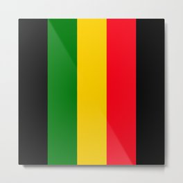 Rastafari Colors Metal Print