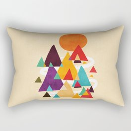 Let's visit the mountains Rectangular Pillow