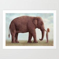 One Amazing Elephant - Back Cover Art Art Print