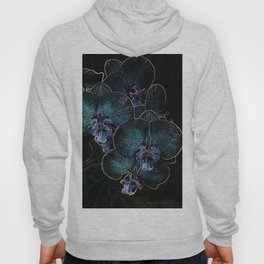 Blue Orchids Hoody