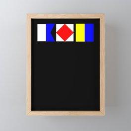 Nautical Flags AFK Away From Keyboard Framed Mini Art Print