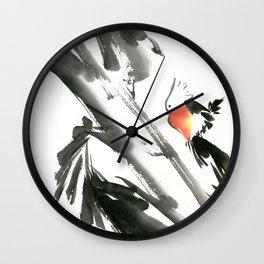 Bird2- Chinese Shui-mo (水墨) Wall Clock