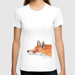 Red fox portrait T-shirt