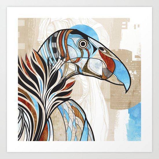 Condor colour Art Print