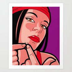 The secret life of heroes - elektra pimple Art Print