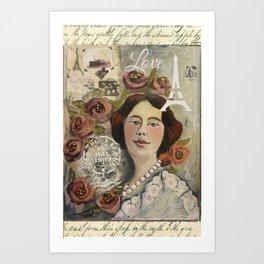 Roseline Art Print