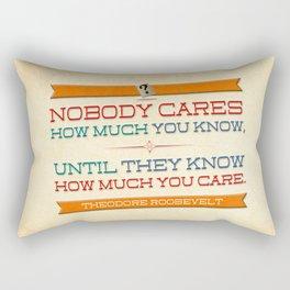 How Much You Care Rectangular Pillow