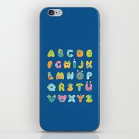 alphabet iPhone & iPod Skins featuring alphabet by lalehan canuyar
