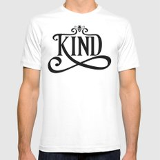 Be Kind Bee MEDIUM Mens Fitted Tee White