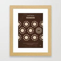 No503 My Rounders minimal movie poster Framed Art Print